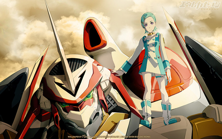 Eureka 7 Nirvash and Eureka Wallpaper