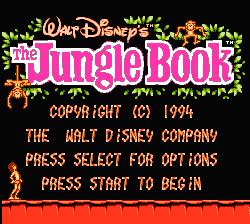 Jungle Book NES screenshot 1