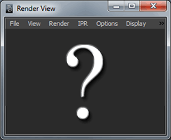 Maya Renderview Missing