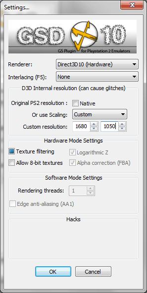 Настройка PCSX2 - настройки GSdx